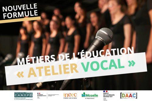 Atelier vocal métiers de l'éducation chorale enseignants moselle 57 dsden cpem inecc choeur départemental eac57 2021