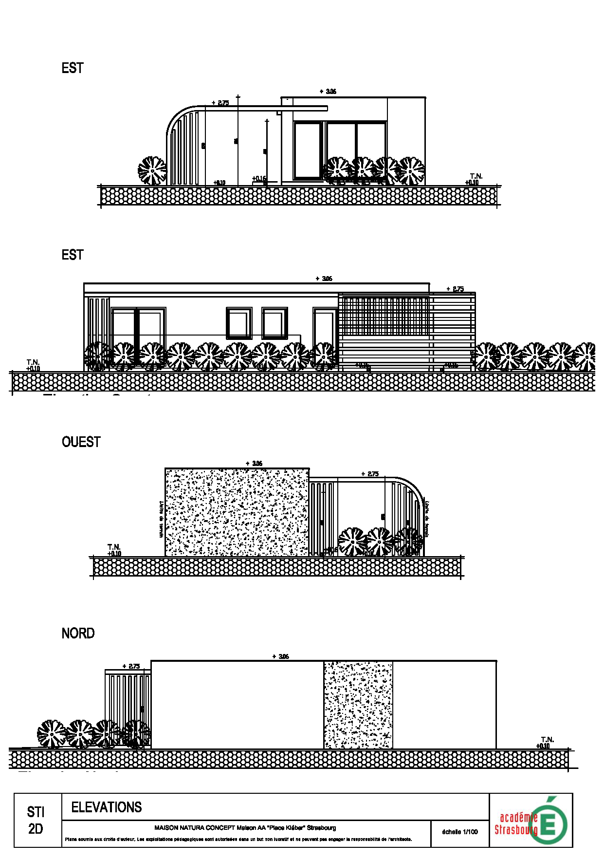 Plans de la maison natura aa architecture et construction - Plan coupe facade maison ...