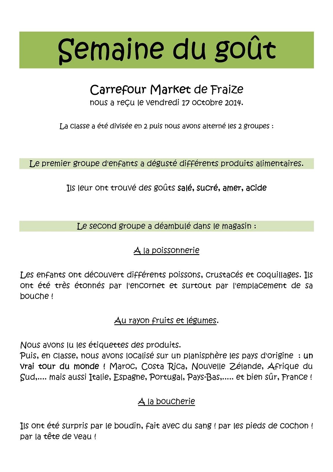 Le Site De L Ecole Elementaire De Fraize Annee 2014 2015 Semaine