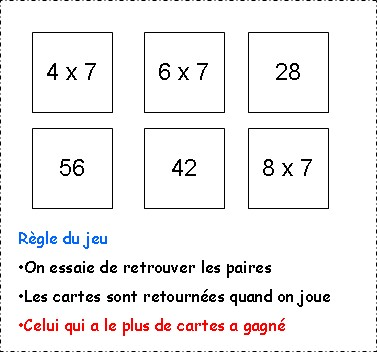 Ecole charles marchetti de metzeresche comment apprendre - Reviser ses tables de multiplication ...