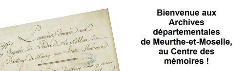 Les archives départementales de Meurthe-et-Moselle
