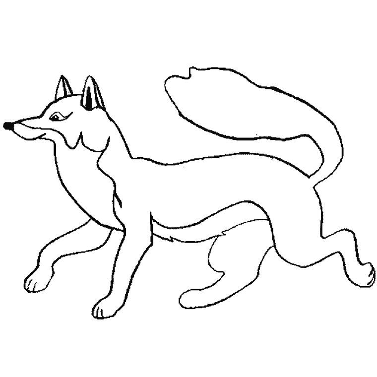 Ecole d 39 ogeviller le renard par maxence - Coloriage renard a imprimer gratuit ...