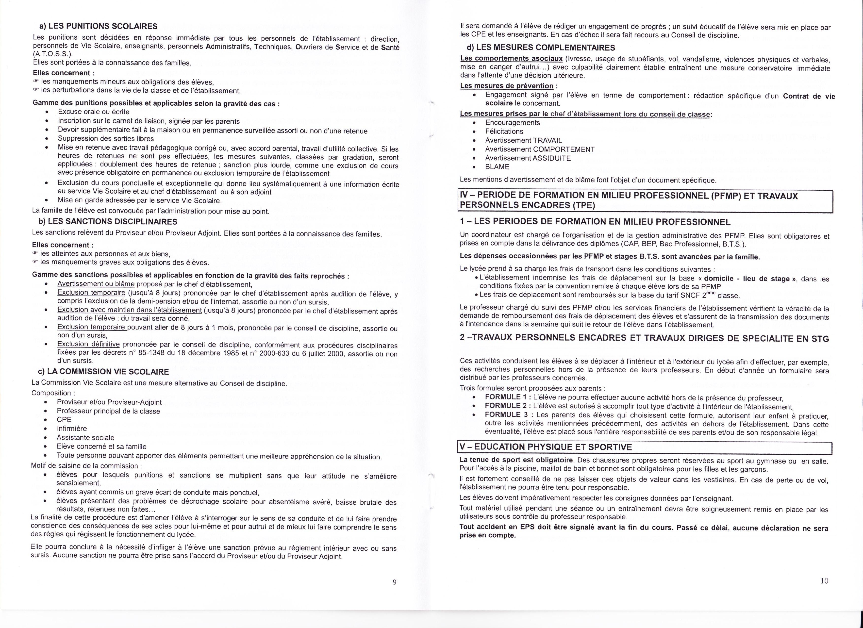 Reglement interieur pour le personnel 28 images seuils for Le reglement interieur