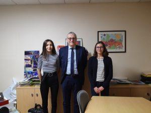 Mathilde et moi-même avec le maire de Pompey.