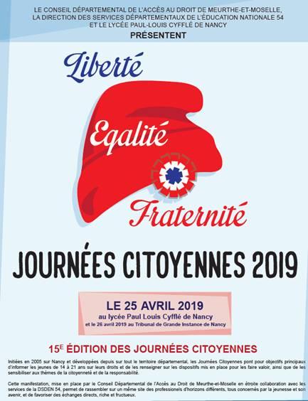 Les journées citoyennes du CDAD – 24 avril 2019