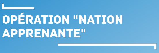 Partenariat «Nation apprenante»